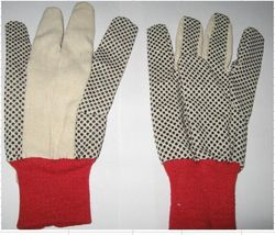 dotted gloves pvc dotted gloves