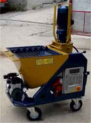 gypsum products and sprayers