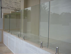 swiming pool Glass Rail