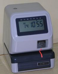 Electronic Time Stamp Numbering Machine