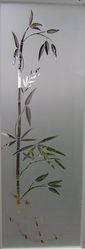 sand blasted glass,etched