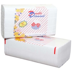 Double Diamond Interfold Hand Towel