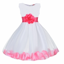 Bowknot Netting Patchwork Party dress kids wear