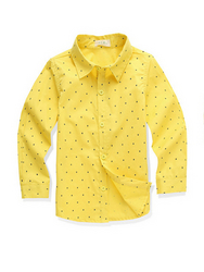 Polo Collar Long Sleeve Boys Blouse