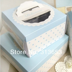 Cake Box / cake container / blue lace