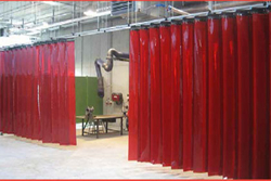 Welding Curtains Red