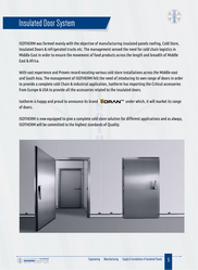 INSULATED DOOR SYSTEM IN SHRAJAH