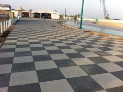 Shot Blasted Tiles (Square Pavers) In UAE