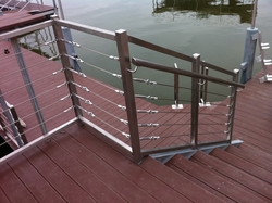 SS handrails with cable
