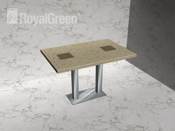 SS table leg with korean marble top