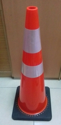 BLACK/ORANGE PVC CONE UAE
