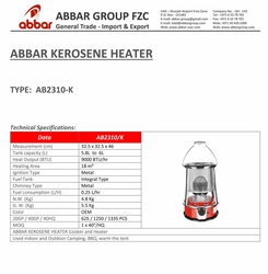 KEROSENE HEATER SUPPLIERS IN UAE