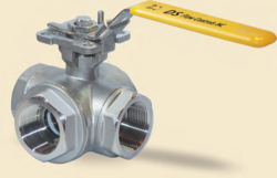 3 WAY FULL PORT THREADED END BALL VALVE