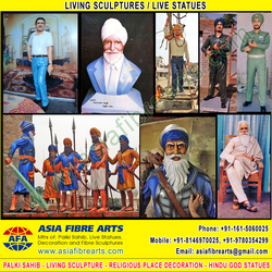 Living Statues Sculpture manufacturers exporters in india pu ...
