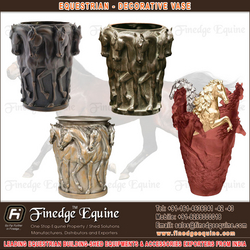 Equestrian decorative vase
