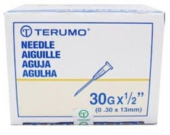 Terumo Disposable Needle 30Gx1/2''