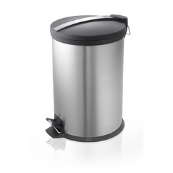 STEEL PEDAL BIN BLACK TOP