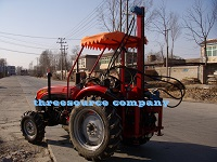 Tractor oil prospecting driling rig