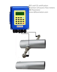 Hot-tapped Insertion Transit-Time Ultrasonic Flow meter