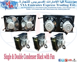 Condenser with fan