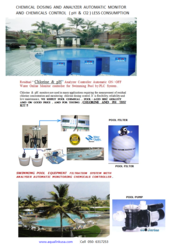SWIMMING POOL WATER TREATMENT WITH ANALYZER AUTOMATIC CONTRO ...