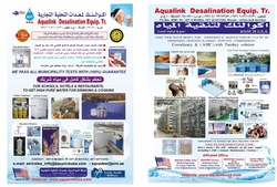 AQUALINK Desalination  Range  of  Products Water Puriification  - MADE IN USA