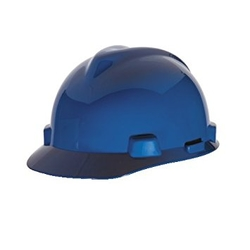 MSA V-Gard Hard Hat Dark Blue
