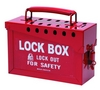 BRADY Portable Metal Lock Box - Red
