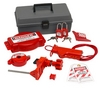 BRADY Valve Lockout Toolbox Kit With Brady Safety
