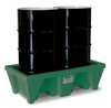 2-Drum ECO Poly-Spillpallet w/Drain