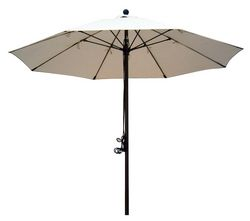 Beige canopy commercial aluminum UMBRELLA from ABILITY TRADING LLC