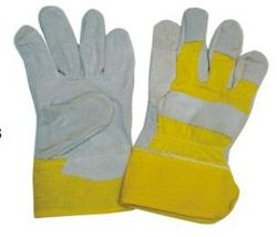 LEATHER GLOVES GREY & YELLOW  from SAFELAND TRADING L.L.C