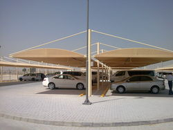 FANCE BARIERS CONSTPARKING SHADE TENTS from AL BAIT AL MALAKI TENTS & SHADES. +971553866226