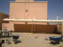 SUN SHADES CAR PARKING SHADES TENTS CANOPIES from AL BAIT AL MALAKI TENTS & SHADES. +971553866226
