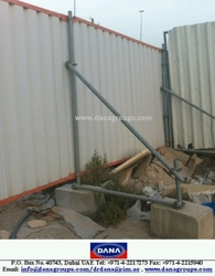 Steel Fencing Wall Temporary Continous -DANA STEEL from DANA GROUP UAE-INDIA-QATAR [WWW.DANAGROUPS.COM]