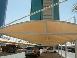 CAR PARK SHADE FOR LANDSCAPE CONTACTORS 0553866226 from AL BAIT AL MALAKI TENTS & SHADES. +971553866226