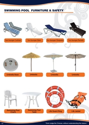 SWIMMING POOL CHAIR UMBRELLA SIDE TABLE 044534894 from ABILITY TRADING LLC