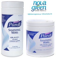 Purell Hand Sanitizing wipes from NOVA GREEN GENERAL TRADING LLC