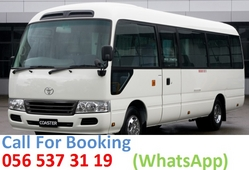 30 Seat Toyota Coaster For rent in Dubai & Sharjah from WADI SWAT BUSES TRANSPORT