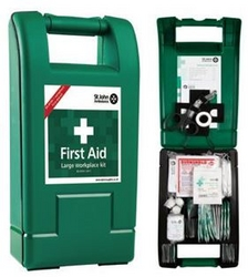 Large Alpha workplace first aid kit, St John Ambulance from ARASCA MEDICAL EQUIPMENT TRADING LLC