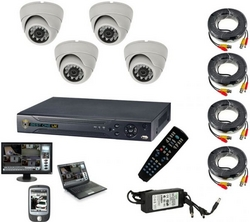 4 cameras day-night view 700TVL, 4 Channel Video A from FINECO GENERAL TRADING LLC UAE