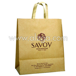 WhiteBrown color craft bag available with printing from AL ZAYTOON GIFT BOXES IND L L C