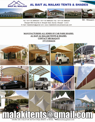 TENTS, AWNINGS, CANOPIES, CAR PARK SHADES IN UAE from AL BAIT AL MALAKI TENTS & SHADES +971522124675