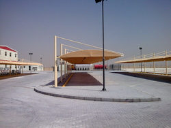 HDPE Car Parking Shades in Dubai UAE from AL BAIT AL MALAKI TENTS & SHADES +971522124675