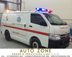 Ambulance manufacturers in Ajman from AUTO ZONE ARMOR & PROCESSING CARS LLC