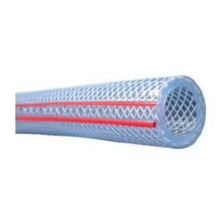clear Hose Heavy duty red and blue line from ADEX INTL INFO@ADEXUAE.COM / SALES@ADEXUAE.COM / 0564083305 / 0555775434