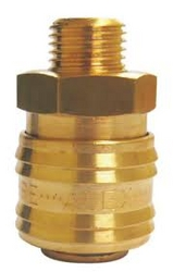 "3/8"" Male threaded Quick Coupling (Brass) from ABRADANT INTERNATIONAL"