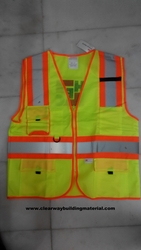 Safety Jacket Yellow With Orange Reflector from CLEAR WAY BUILDING MATERIALS TRADING