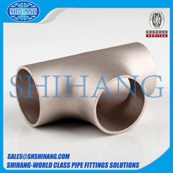 copper nickel equal tee from SHANGHAI SHIHANG COPPER NICKEL PIPE FITTING CO., LTD.