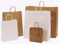 Ready Made White Kraft Paper bag from AL ZAYTOON GIFT BOXES IND L L C